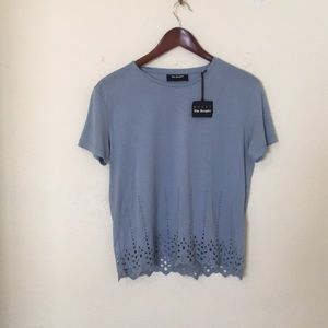 NWT Kooples blue lace top